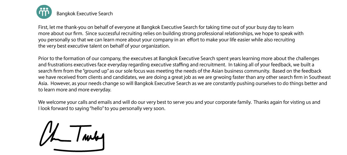 1 Ranked Bangkok Search Firm | Thai Recruiters | Bangkok